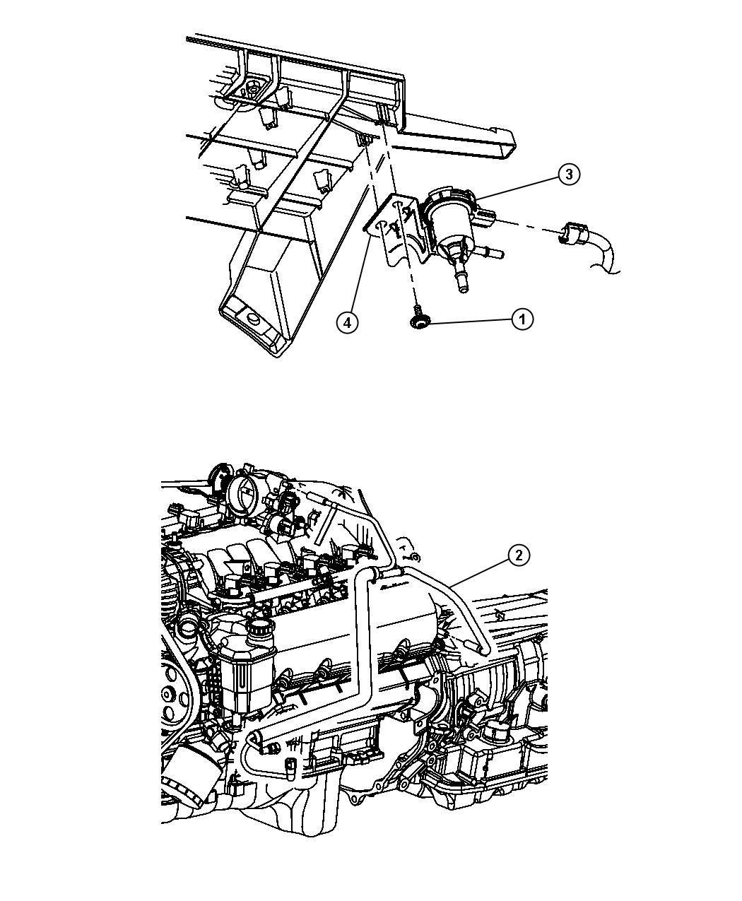 Dodge Ram 1500 Valve. Linear purge. Without bracket