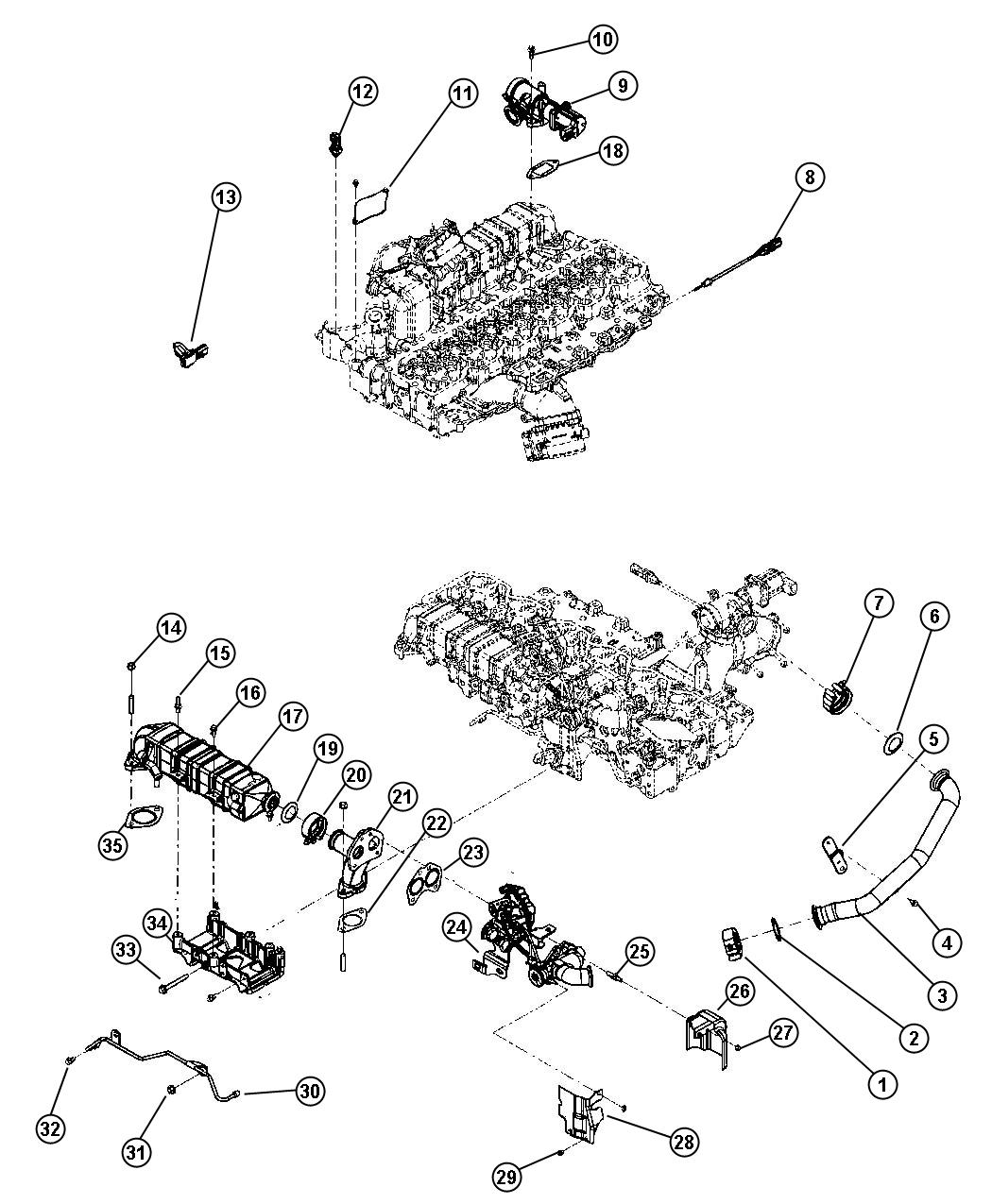 2011 Dodge Ram 3500 Bypass assembly. Cooler. [50 state