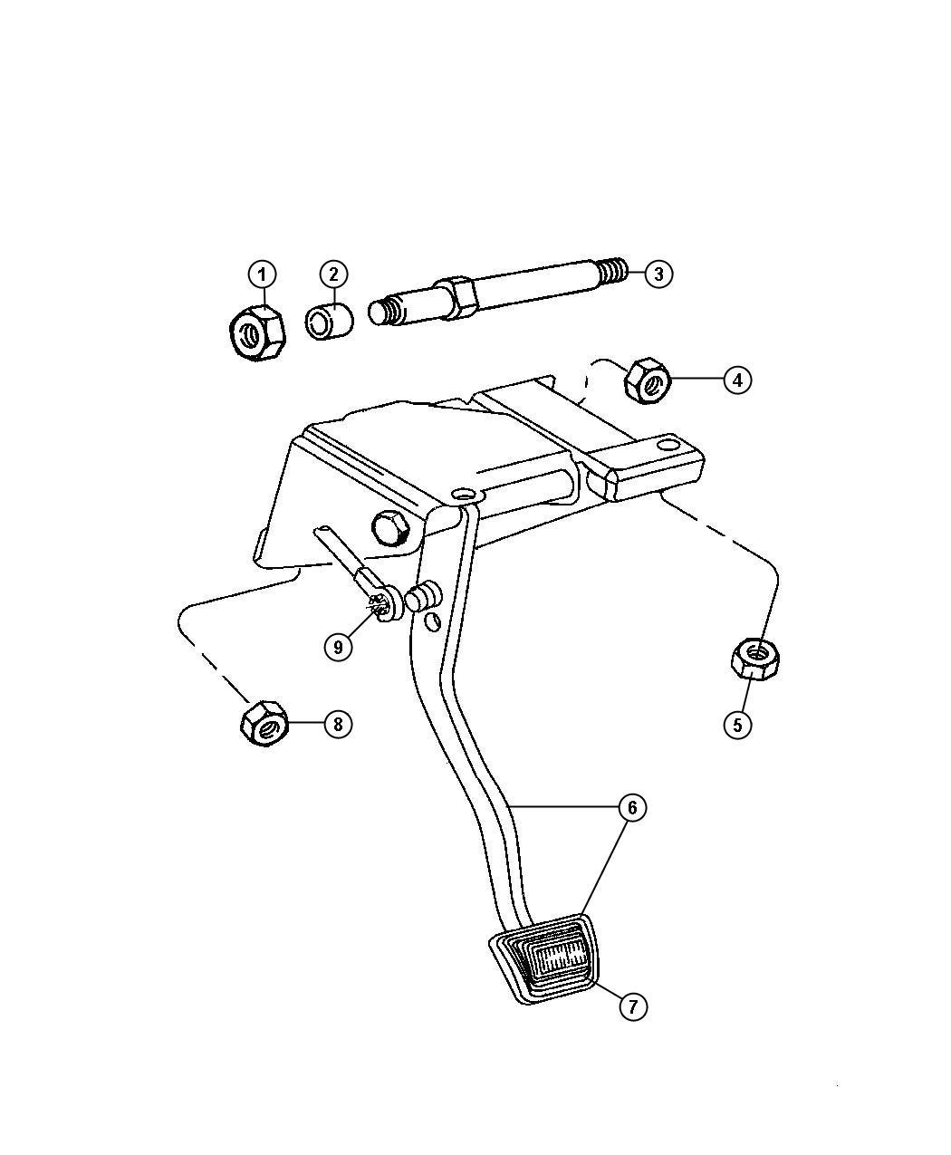 1999 Jeep Wrangler Bushing. Hydraulic clutch actuator