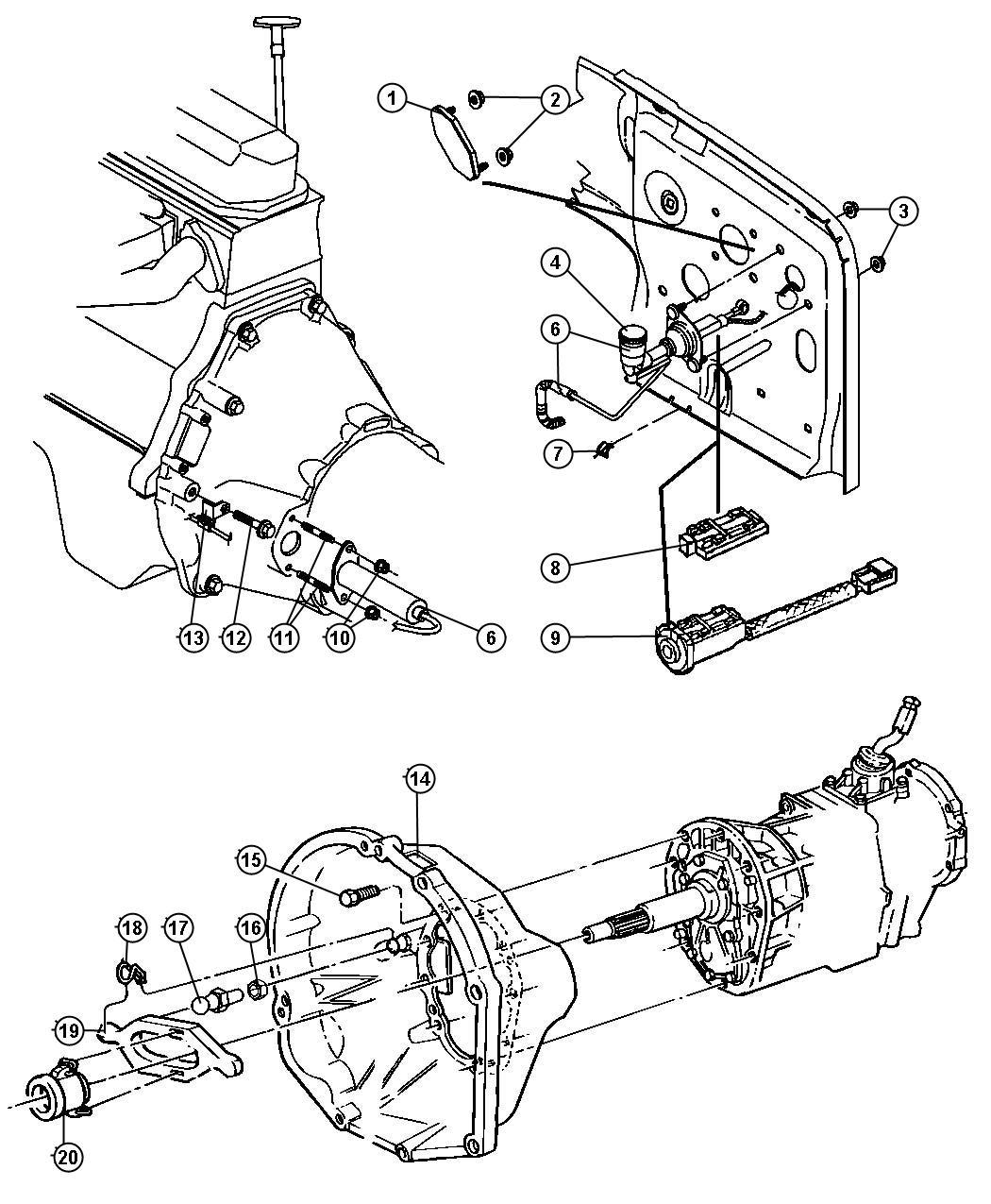 Jeep Wrangler Switch Clutch Starter Interlock