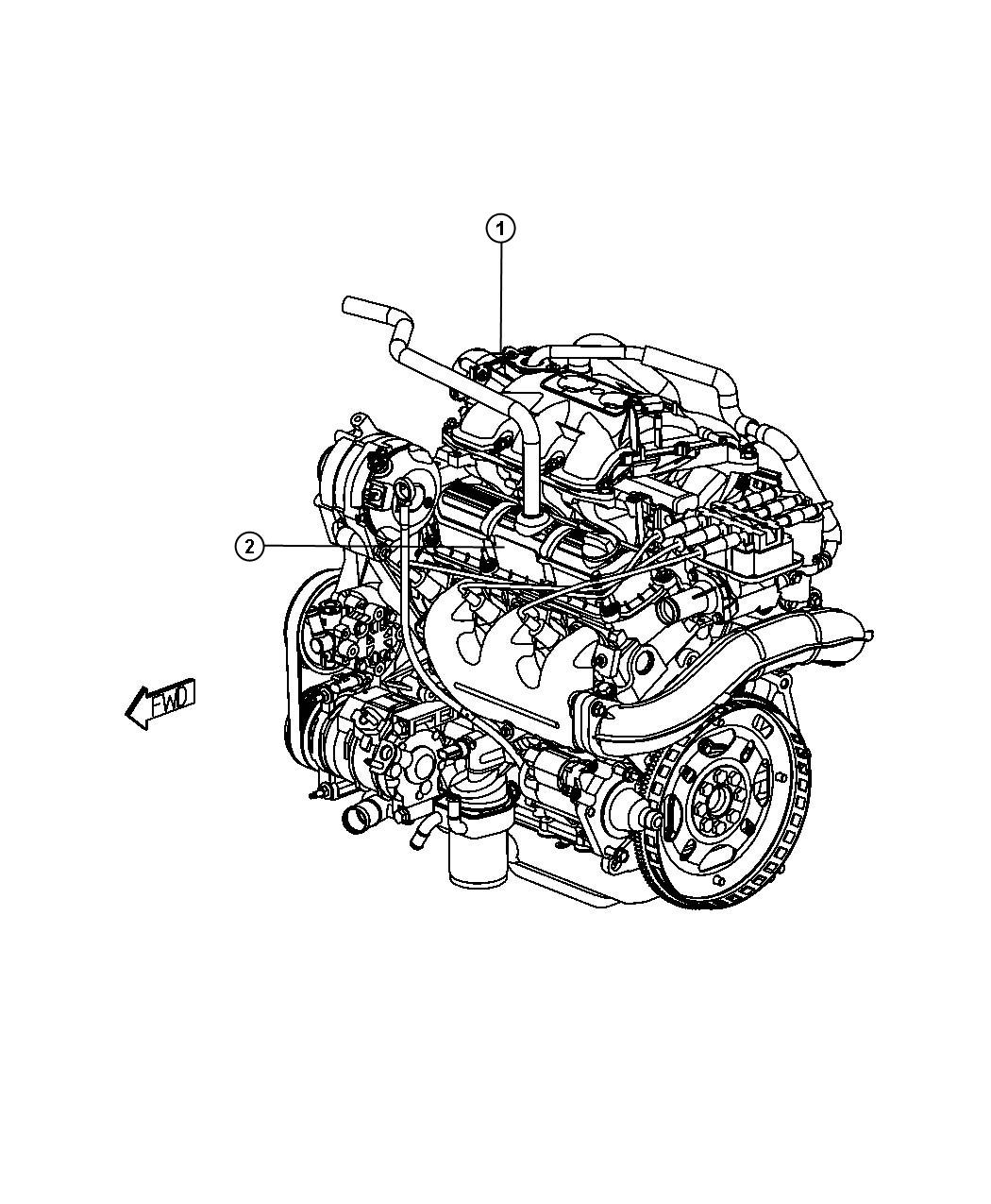 Chrysler Town Amp Country Engine Long Block Remanufactured