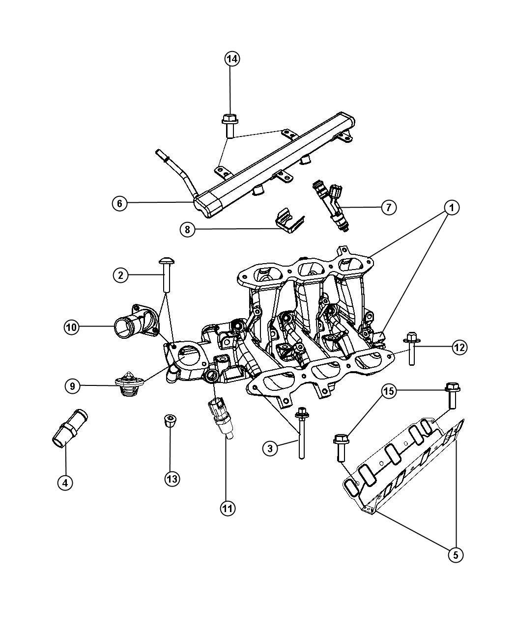 Jeep Wrangler Nipple. 375-18x2.00. Heater hose. Manifold