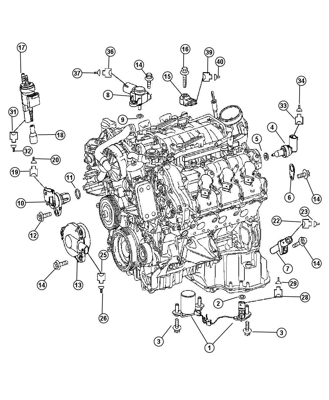 Dodge SPRINTER Sensor. Crankshaft position. Stamp a 004