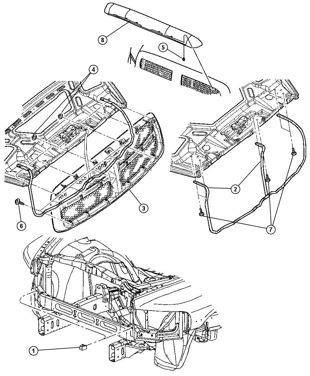 Dodge Ram 1500 Bracket. Radiator grille. Related, mopar