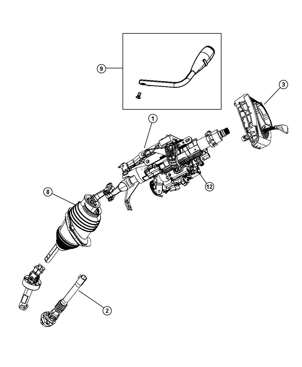 Chrysler 300 Cable Gear Selector Column Gearshift