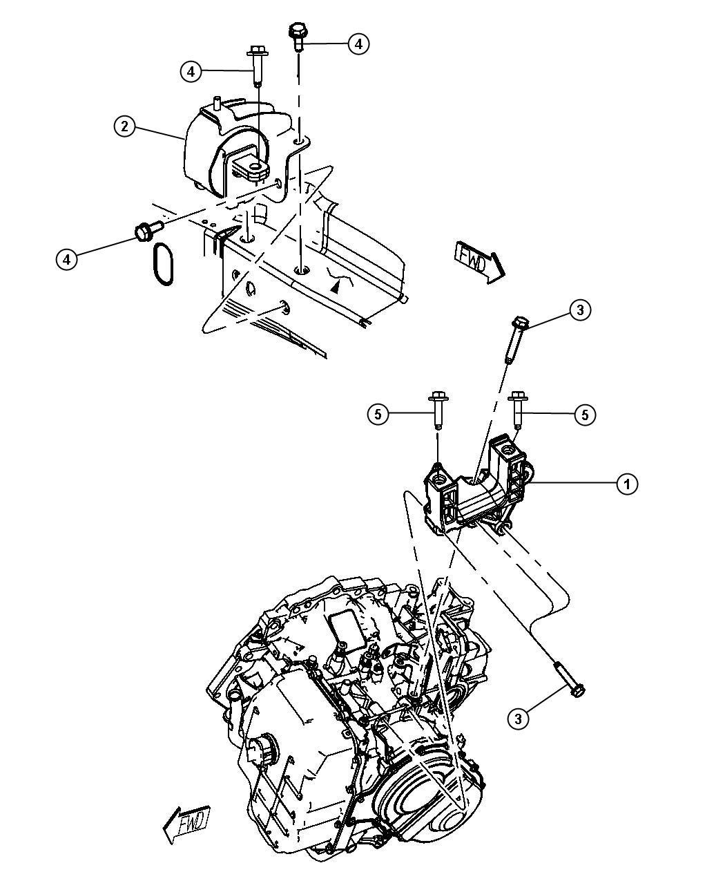 Chrysler Town Amp Country Bracket Transmission Mount