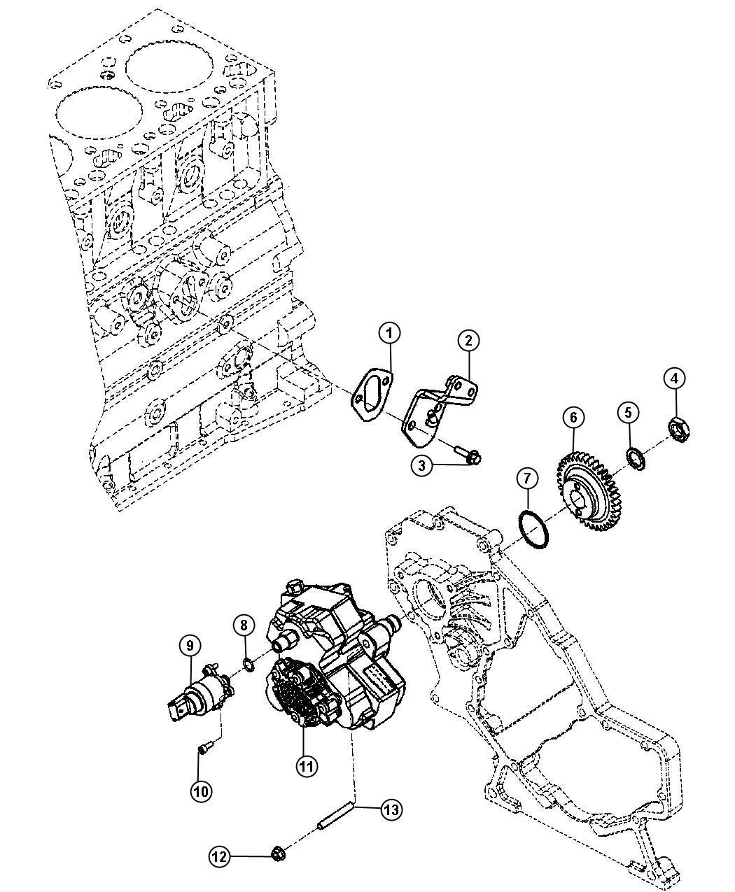 2008 Dodge Ram 2500 Actuator. Fuel control. Injection pump