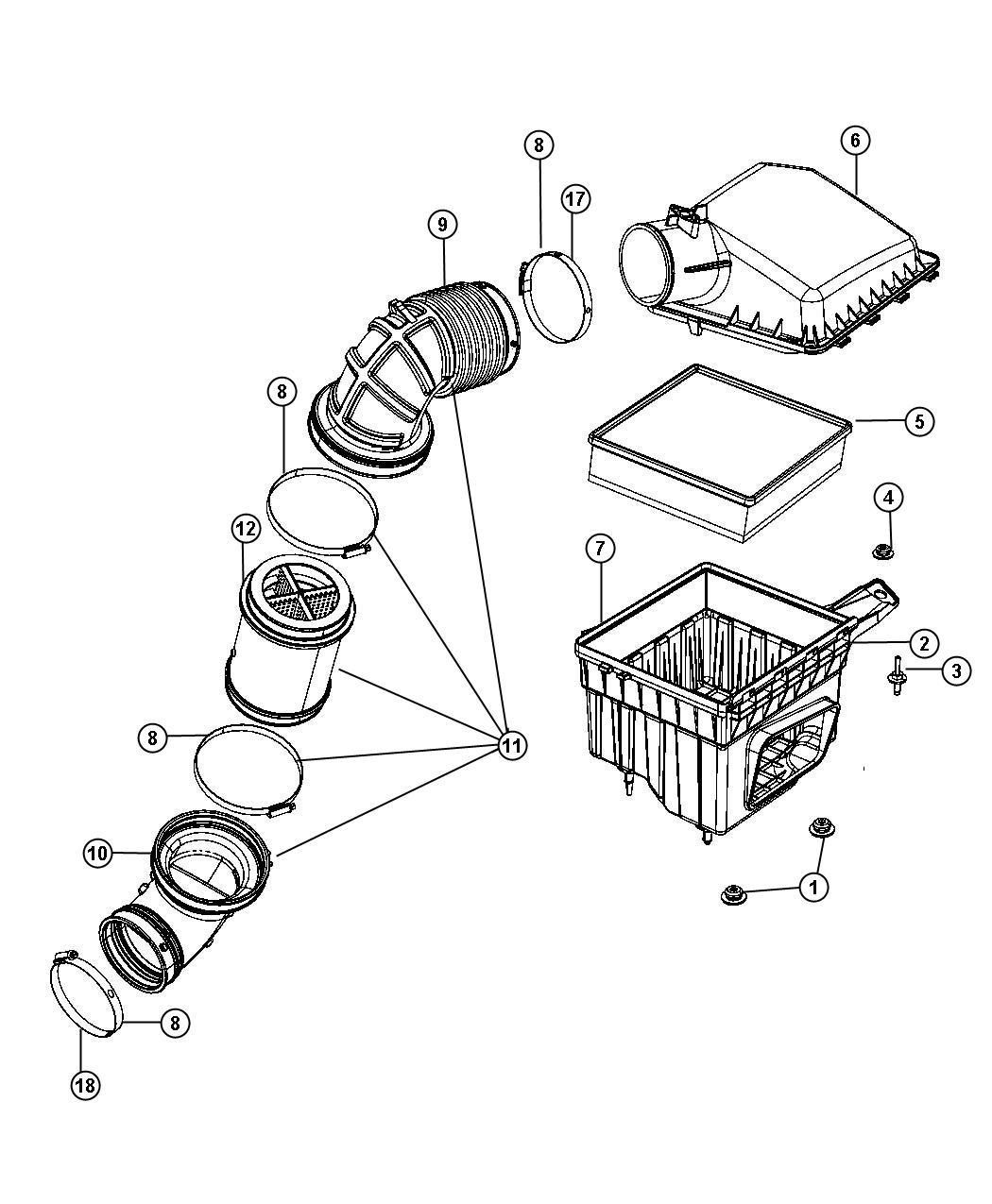 2008 Dodge Ram 2500 Gauge, sensor. Air flow, air