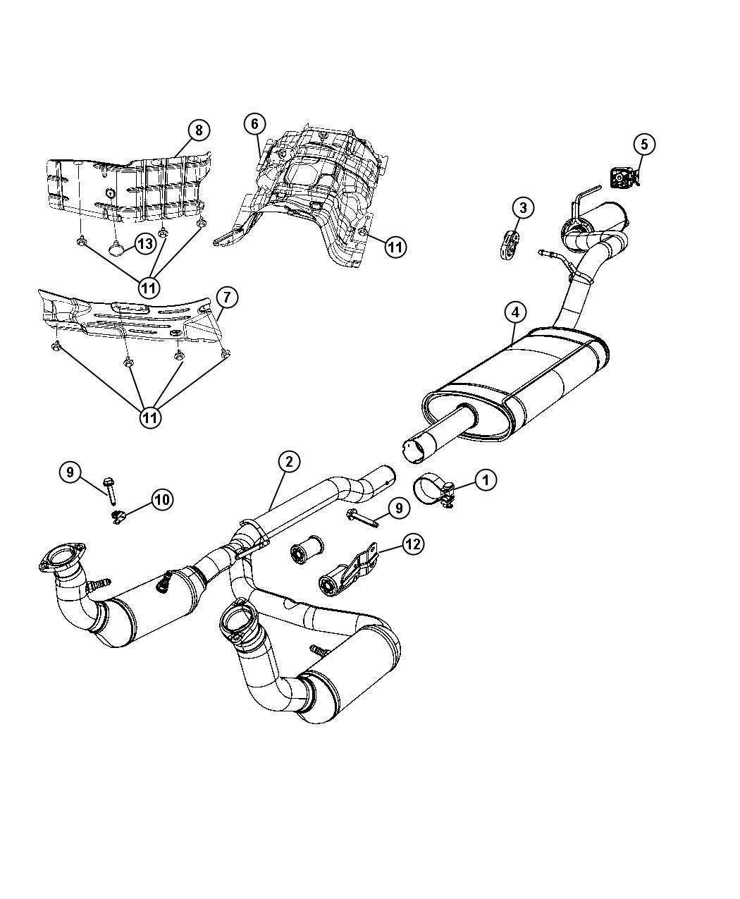 Dodge NITRO Shield. Fuel tank heat, heat. Exhaust, plates