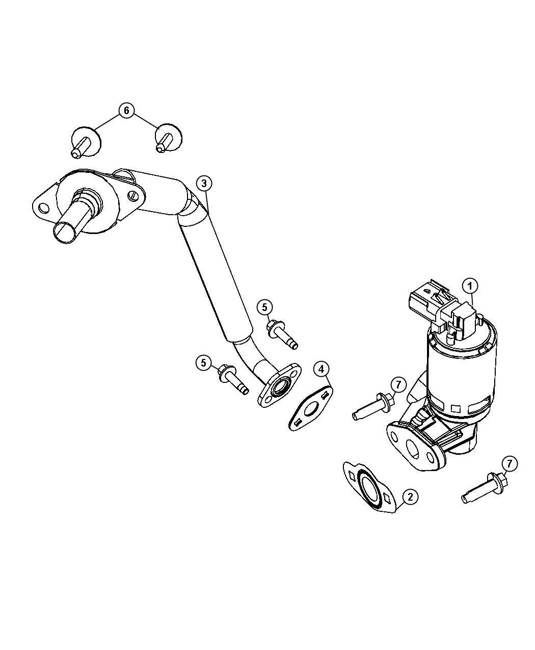Dodge NITRO Valve. Egr, valve assy-egr. System, related
