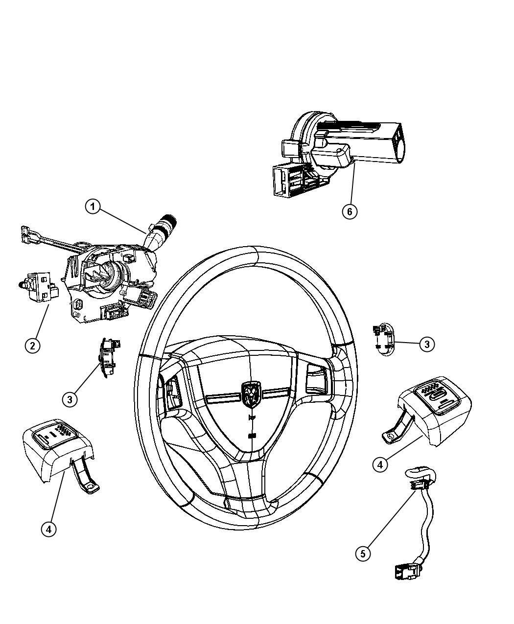 Dodge Ram Switch Ignition Steering Column Tilt