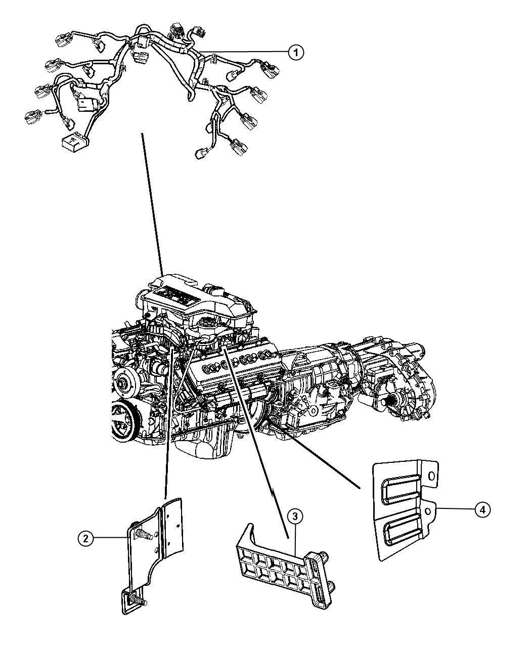 2011 Dodge Ram 3500 Bracket. Engine wiring. [all vehicles