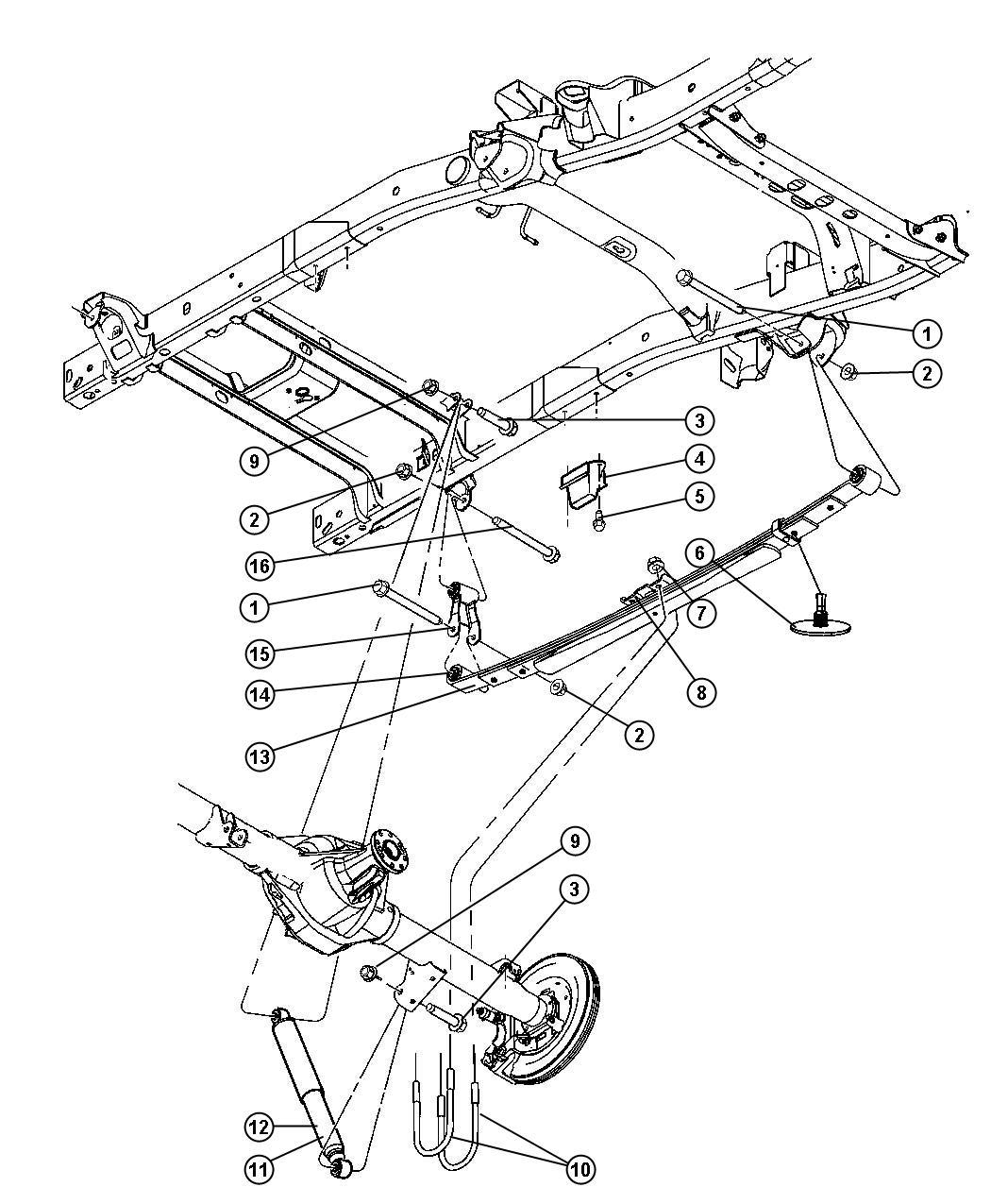 Dodge Ram Absorber Suspension From 02 04 08 Warren