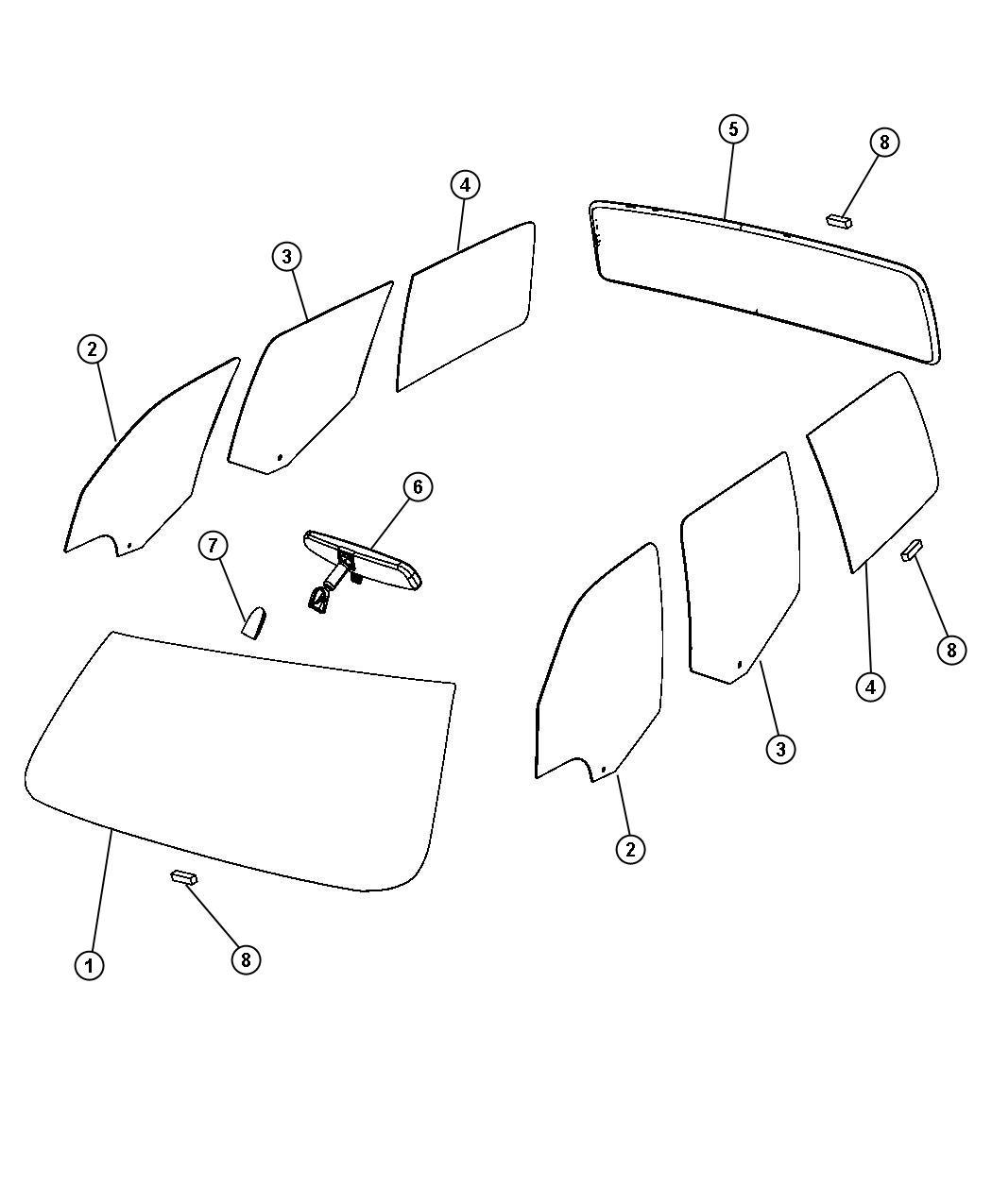 Dodge Nitro Windshield Shipping Assembly