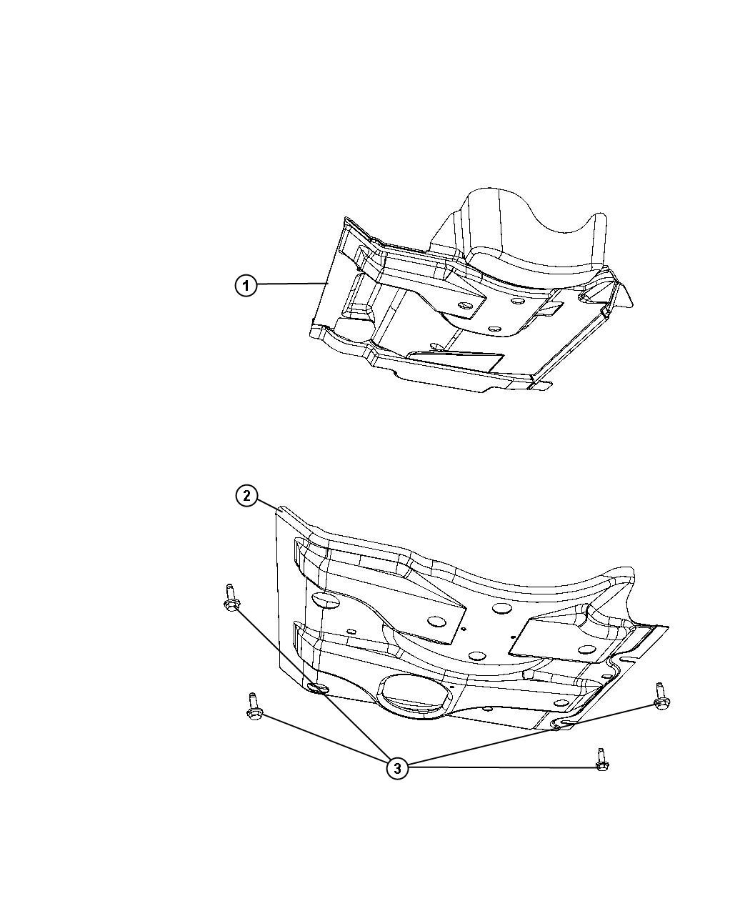 2008 Dodge NITRO Support assembly. Front belly pan. Skid