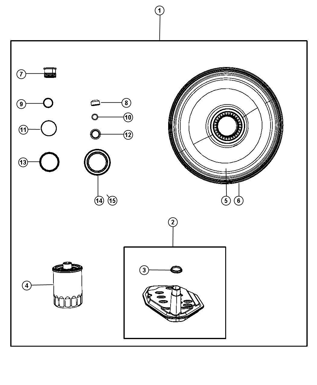 Dodge Ram Seal Pkg Transmission Shim Packages