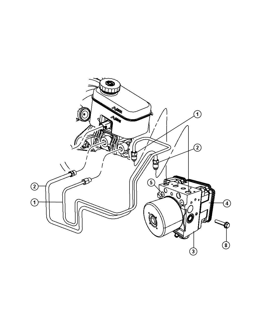Jeep Wrangler Module Anti Lock Brake System Export
