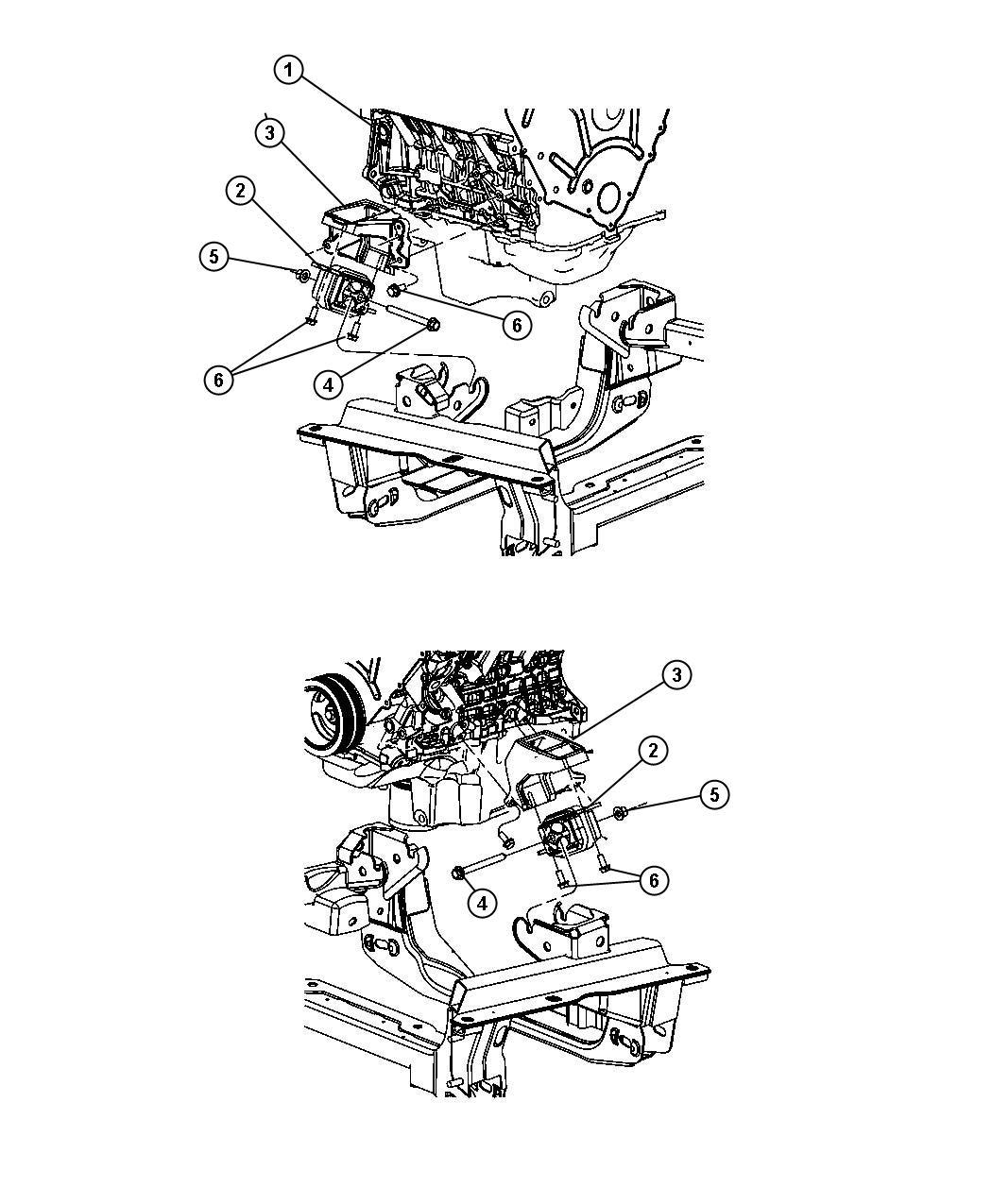Dodge Nitro Bracket Engine Mount Right