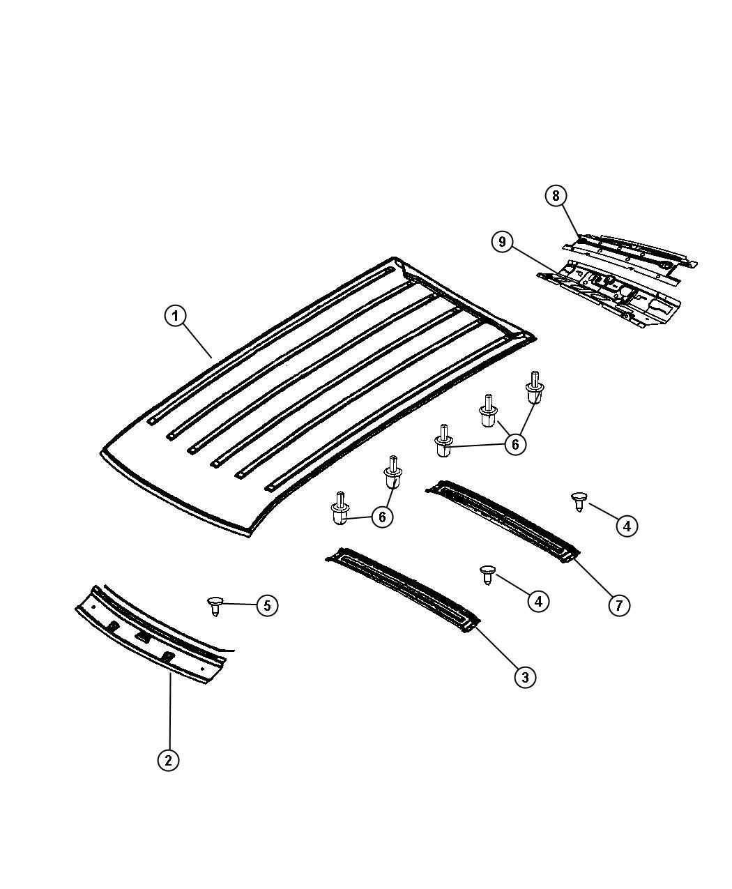 Dodge Nitro Panel Roof Without Power Sunroof