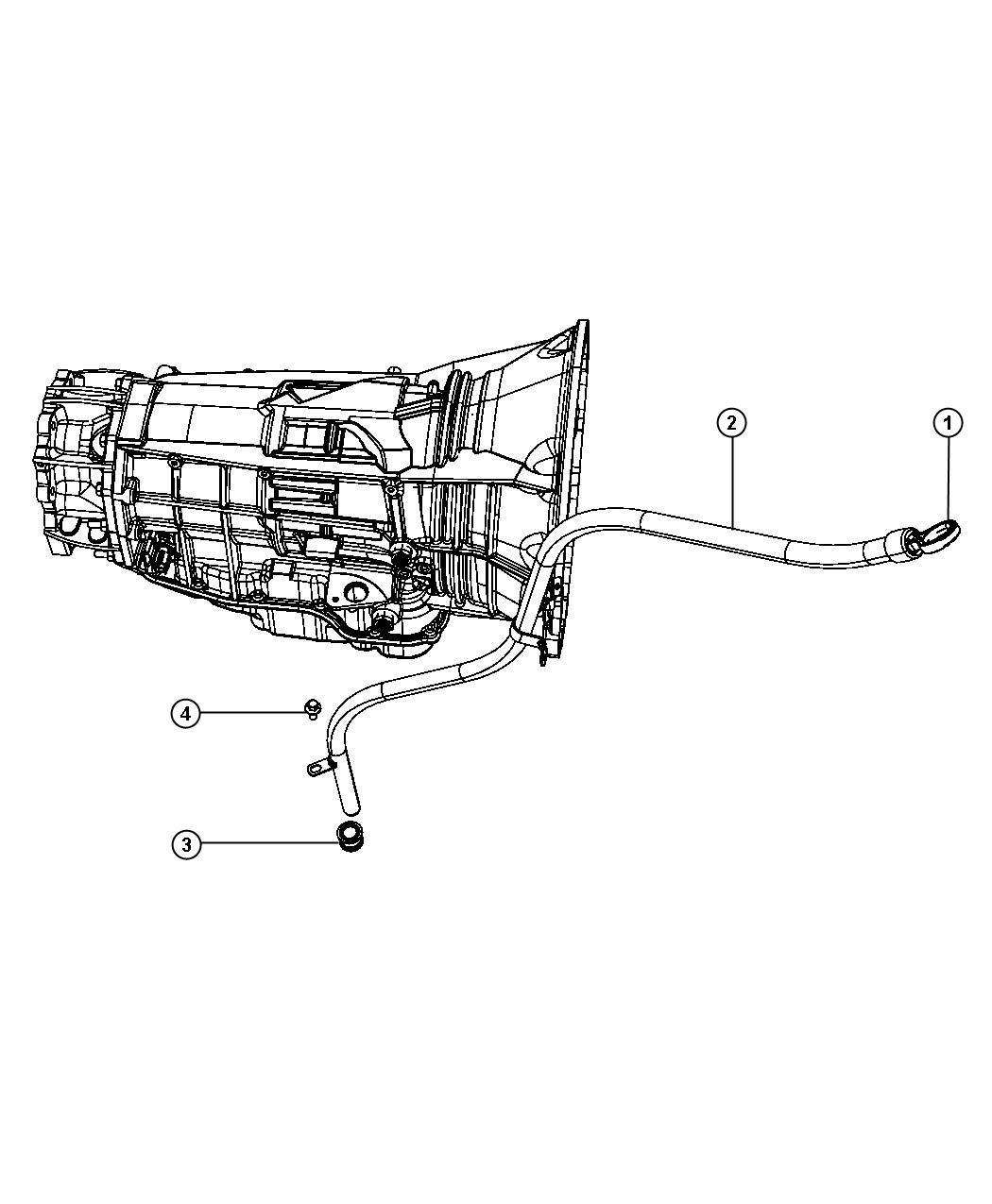 Dodge Ram Tube Transmission Oil Filler Case