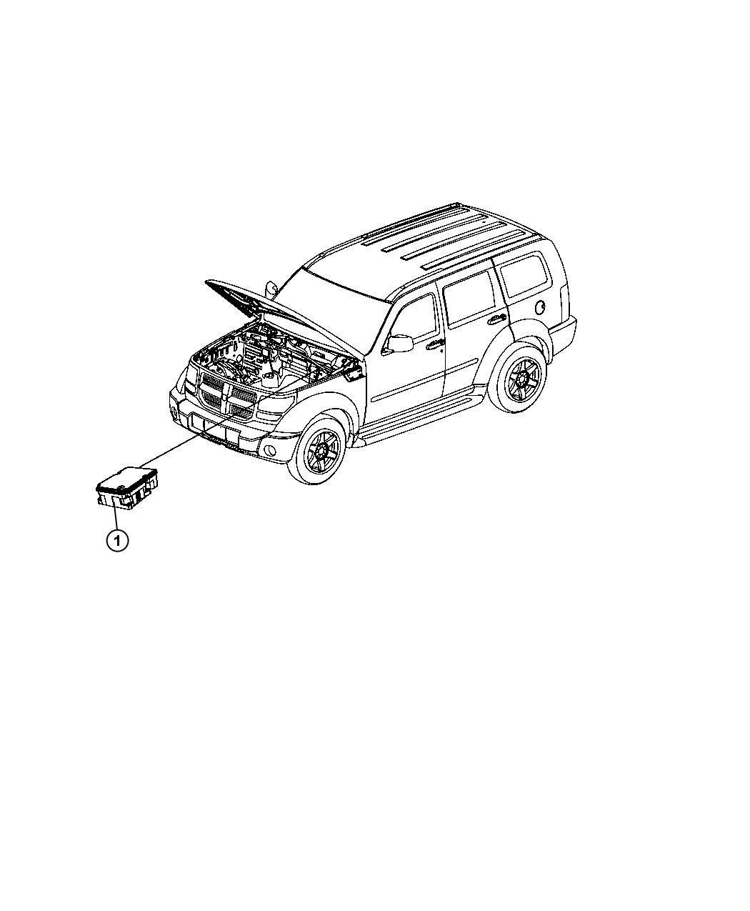 Dodge Nitro Module Anti Lock Brake System Modules Tubes