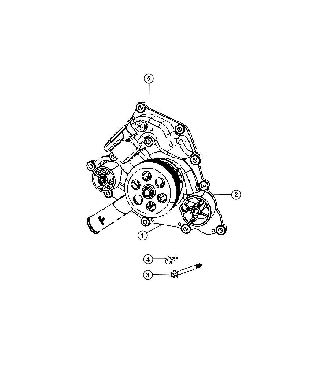 Dodge Grand Caravan Pump Water Gasket Plug