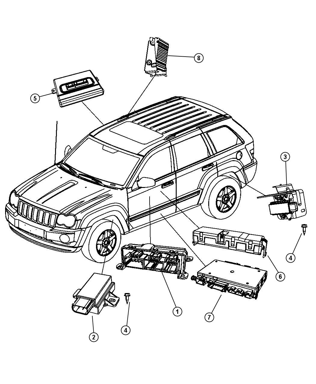 Jeep Grand Cherokee Module Tire Pressure Monitoring