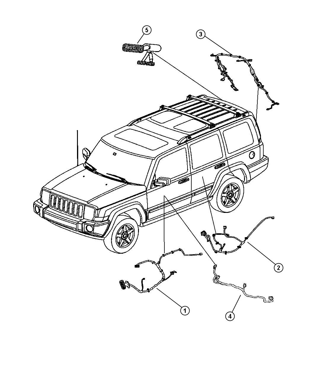 Jeep Commander Wiring. Liftgate. [parkview(tm) rear back
