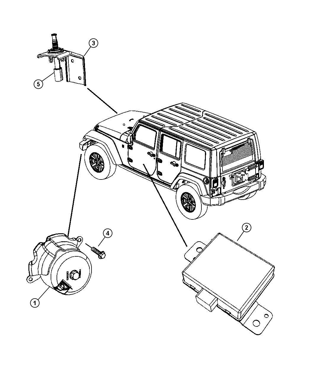 Jeep Wrangler Module Alarm Security Instrument