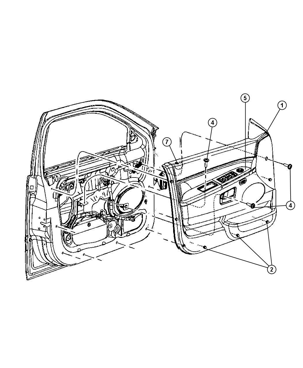 Jeep Commander Fastener. Door trim panel. Trim: [all trim