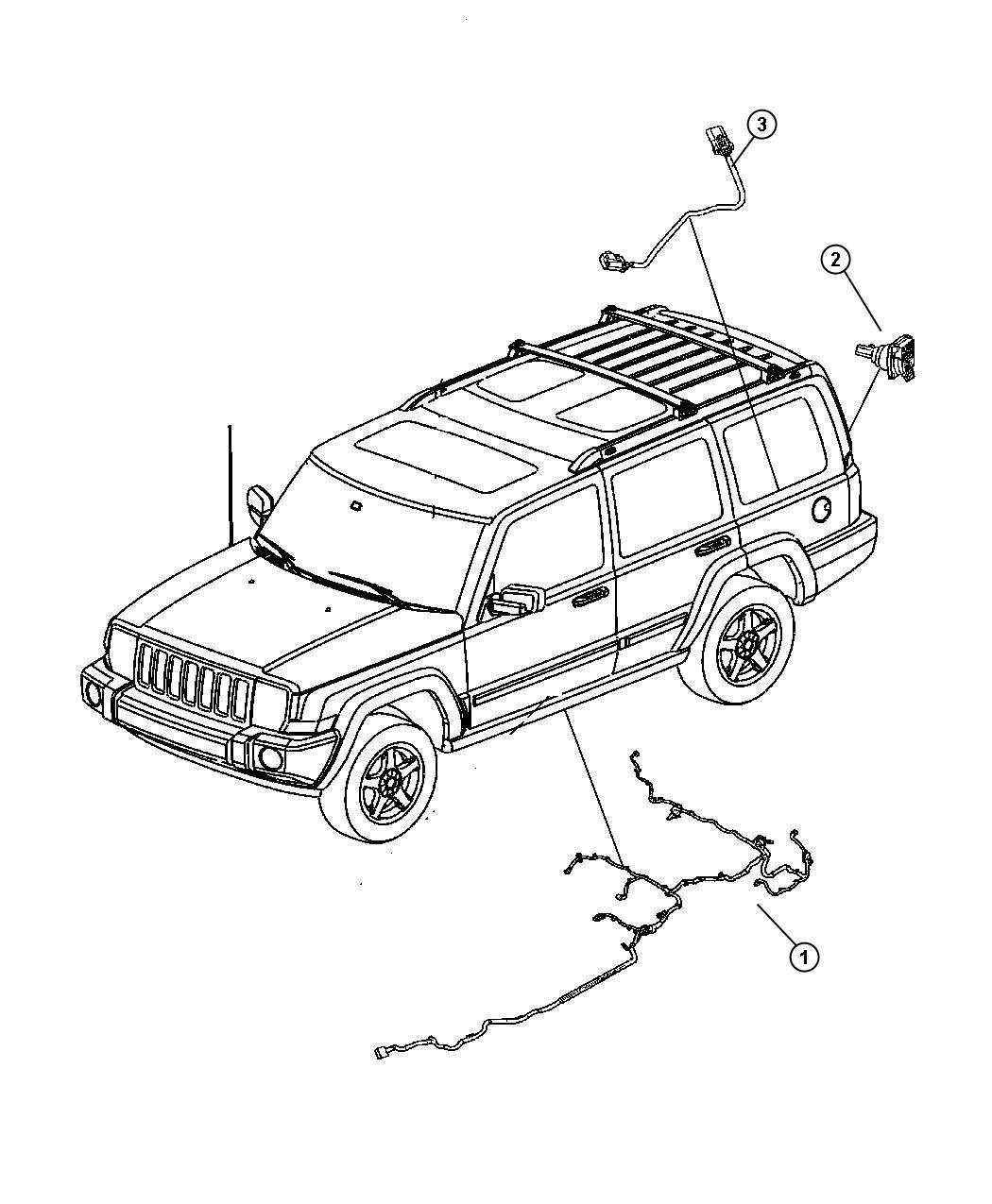 2008 Jeep Commander Wiring. Fuel module. [[21.1 gallon