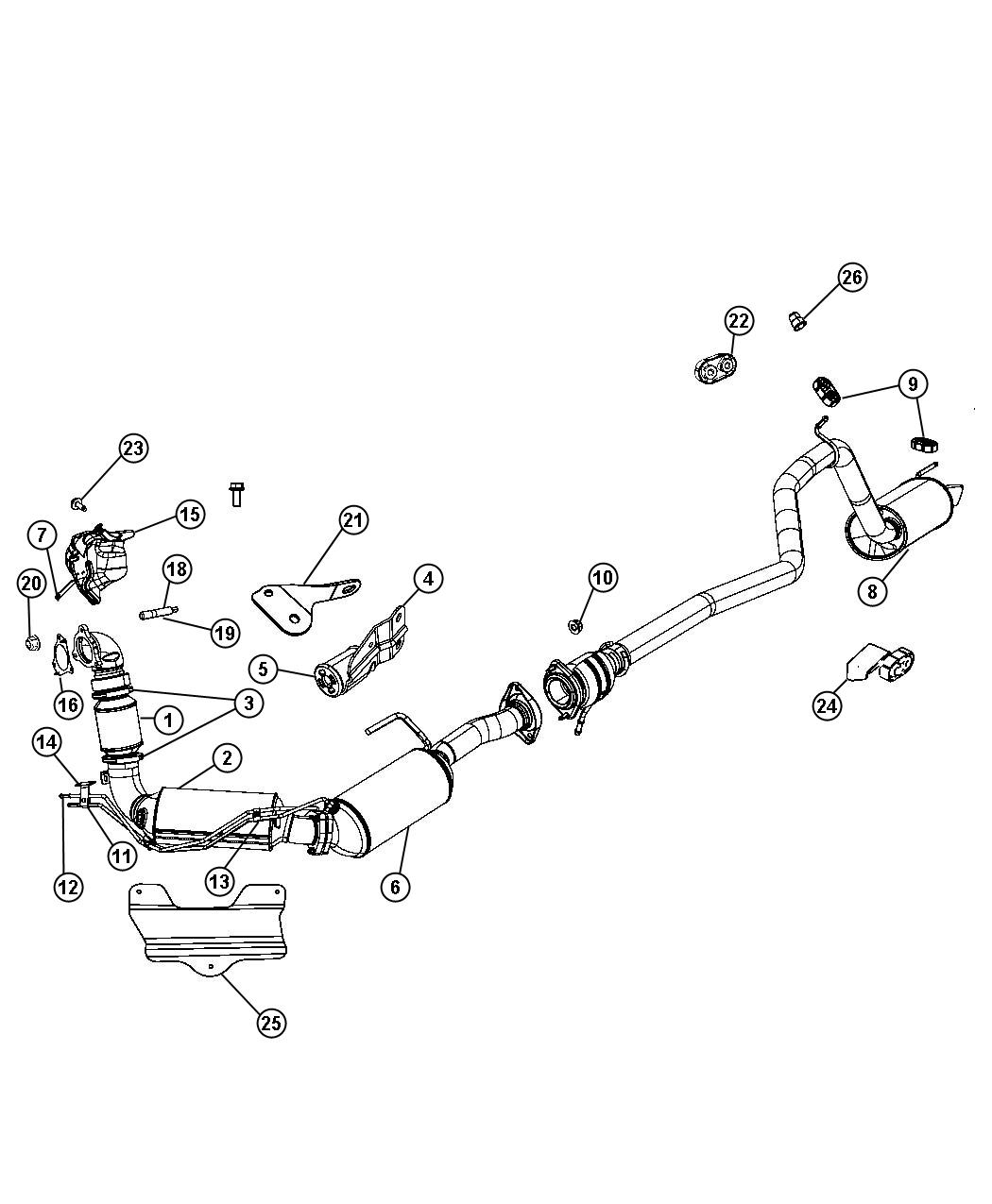 Jeep Grand Cherokee Converter Catalytic Upstream Export