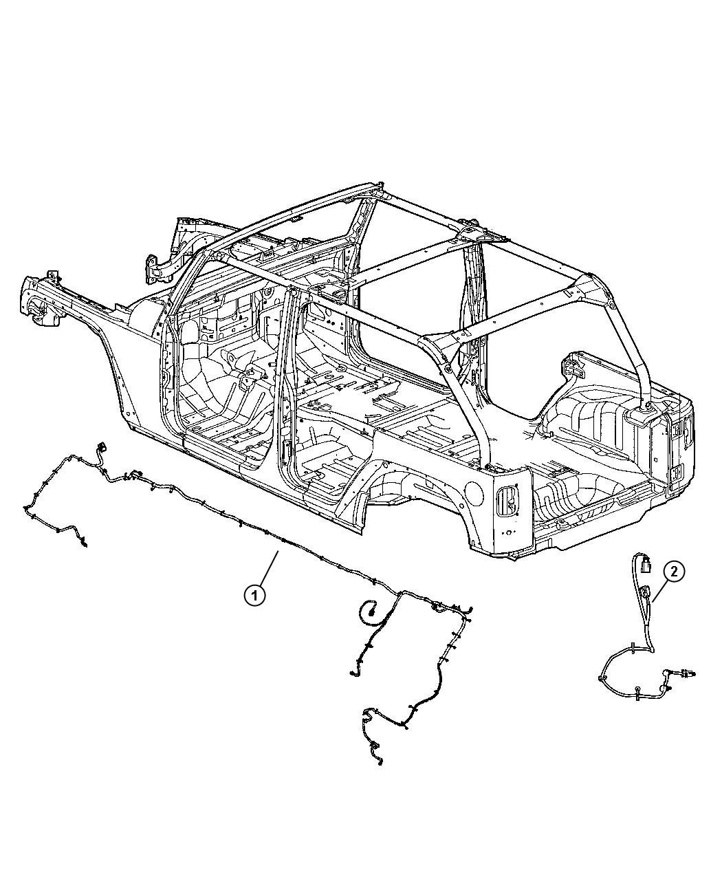 Jeep Wrangler Wiring. Chassis. Front, rear, bar