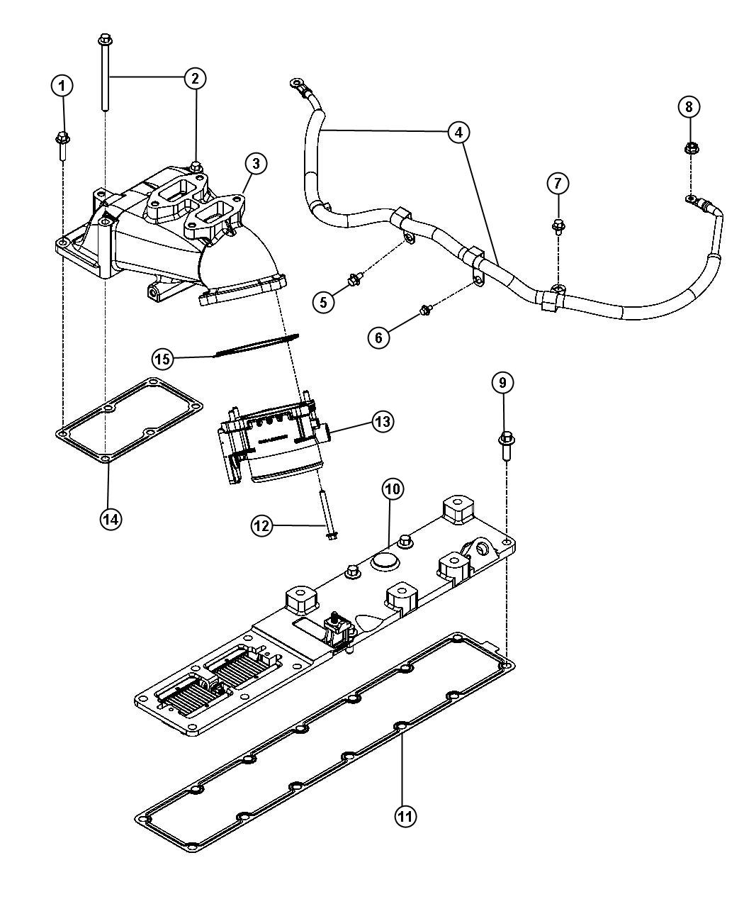 Dodge Ram 3500 Wiring. Air intake heater. [federal