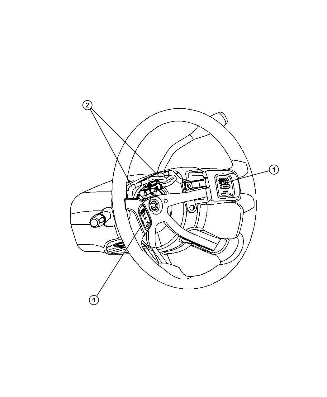 2008 Dodge Durango Wiring. Steering wheel. Trim: [all trim