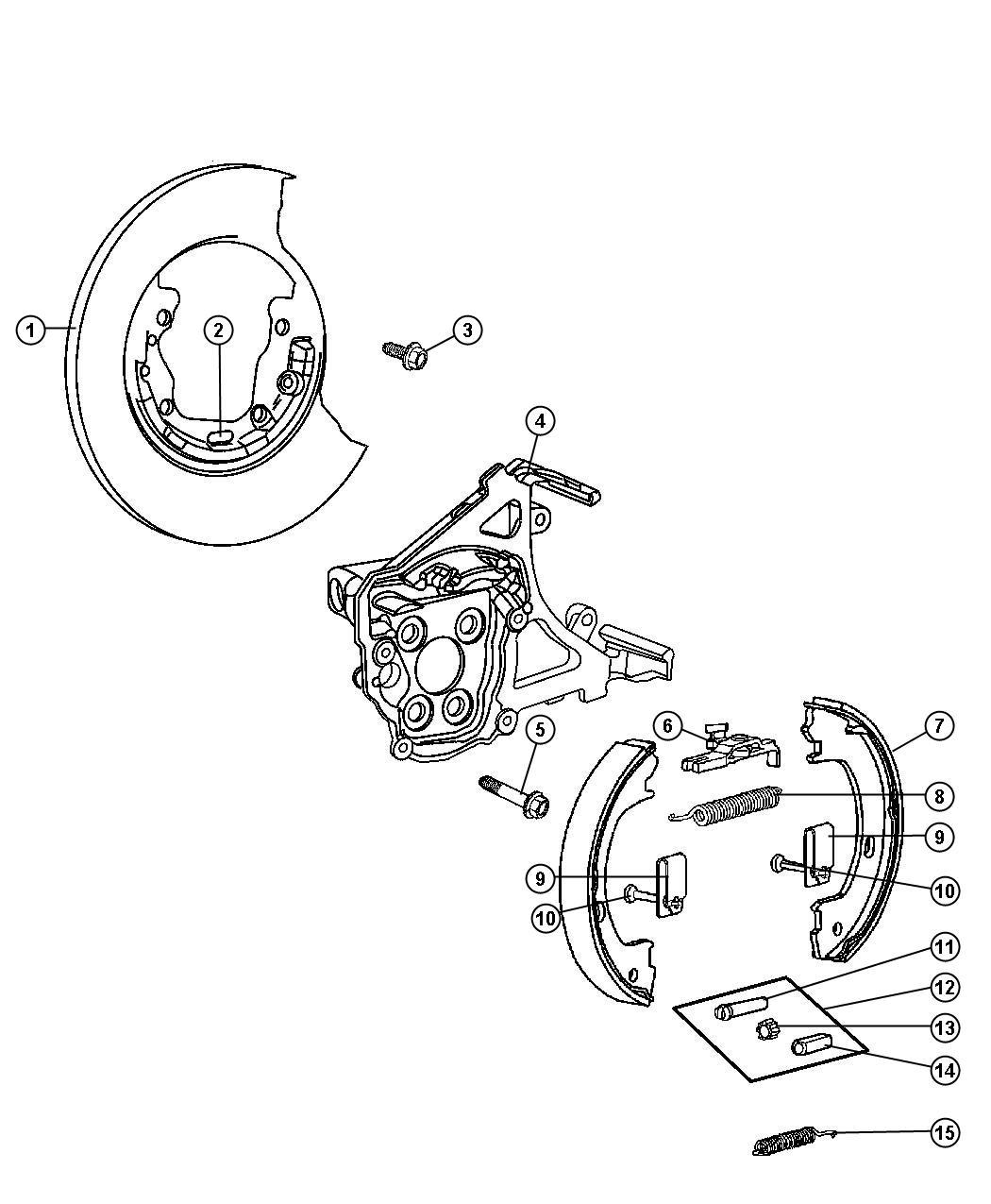 2010 Dodge Dakota Adapter. Disc brake caliper. Right