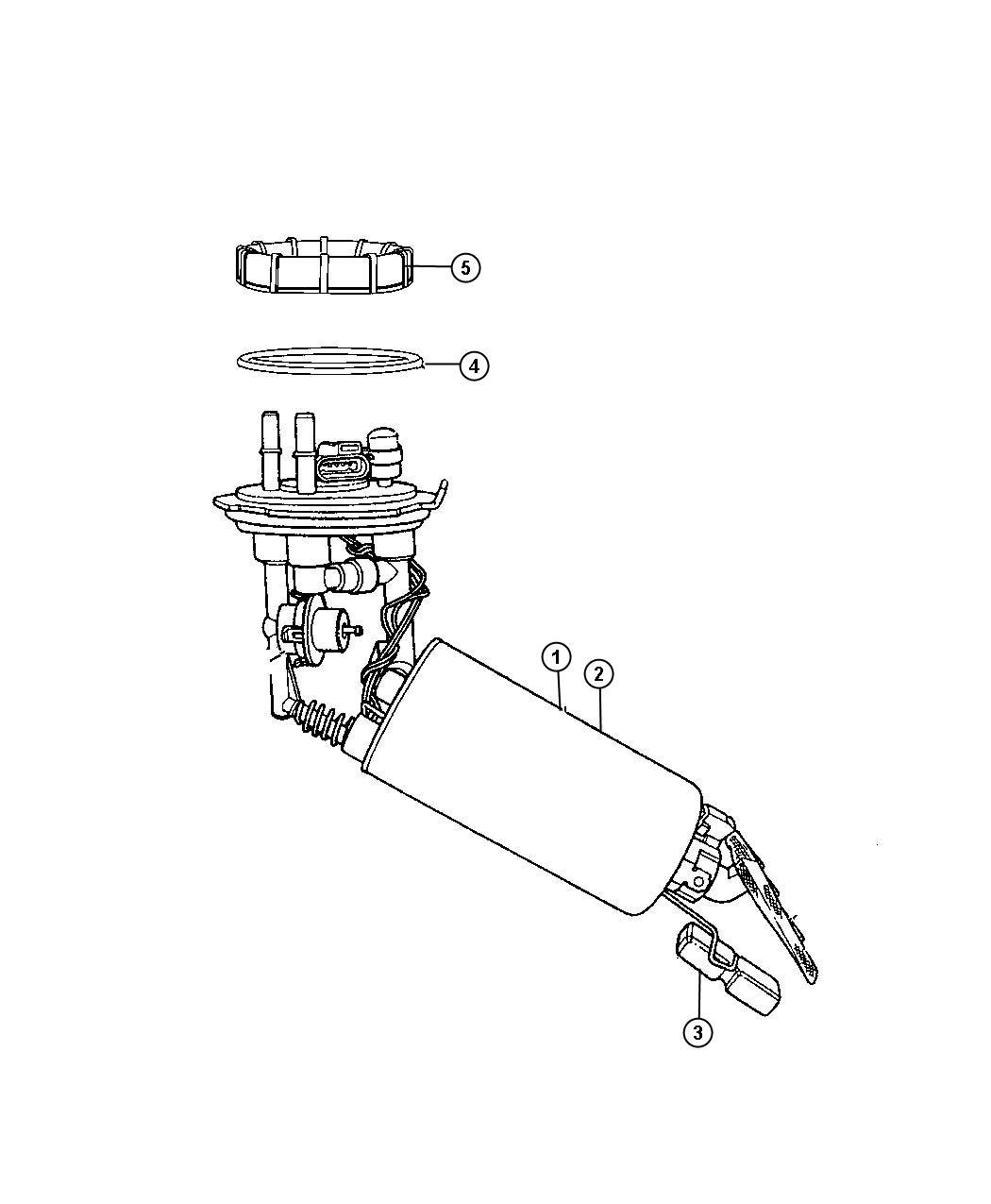 Chrysler PT Cruiser Level unit kit. Fuel. Pump