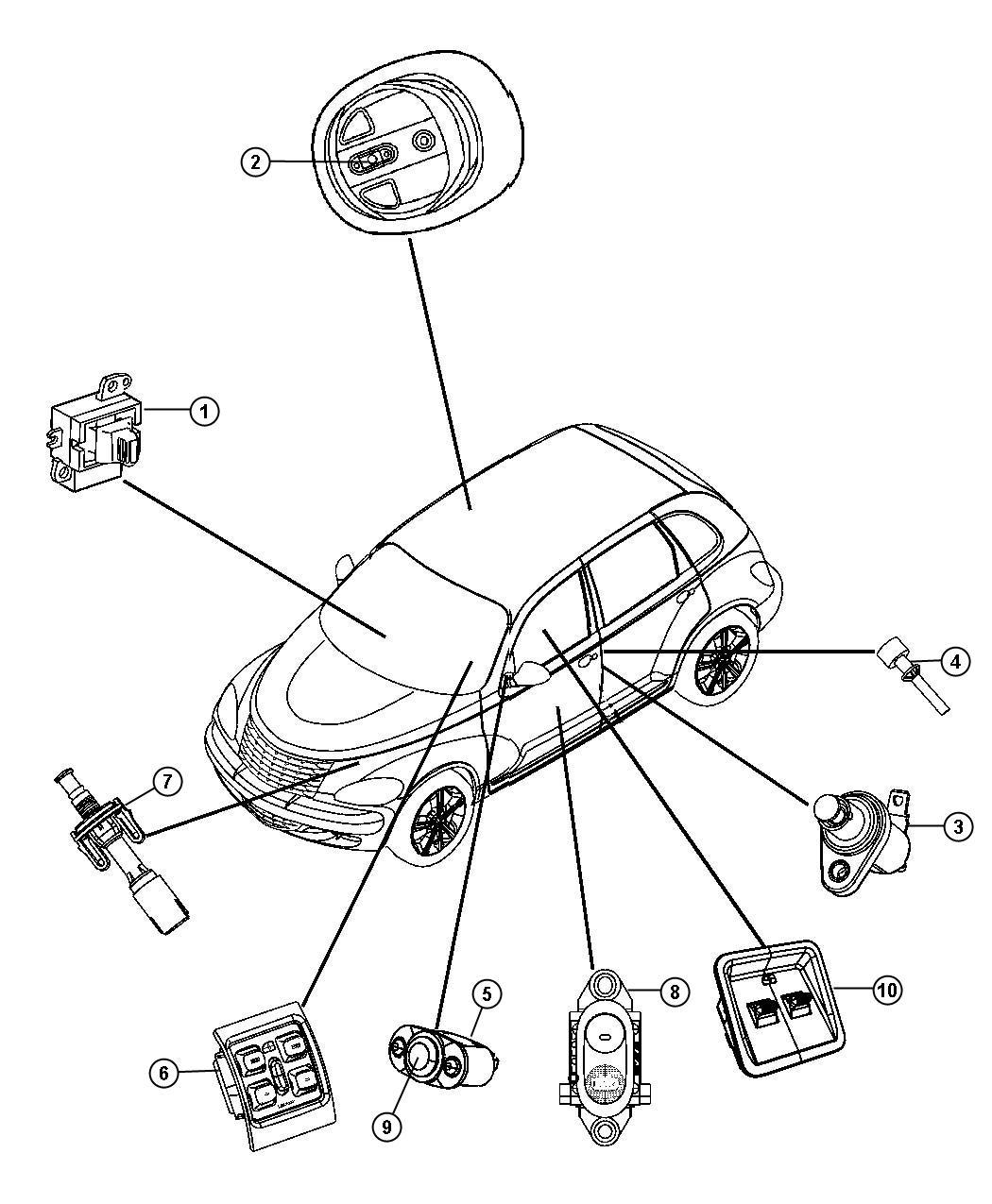 2008 Chrysler PT Cruiser Switch. 5 gang. Trim: [all trim