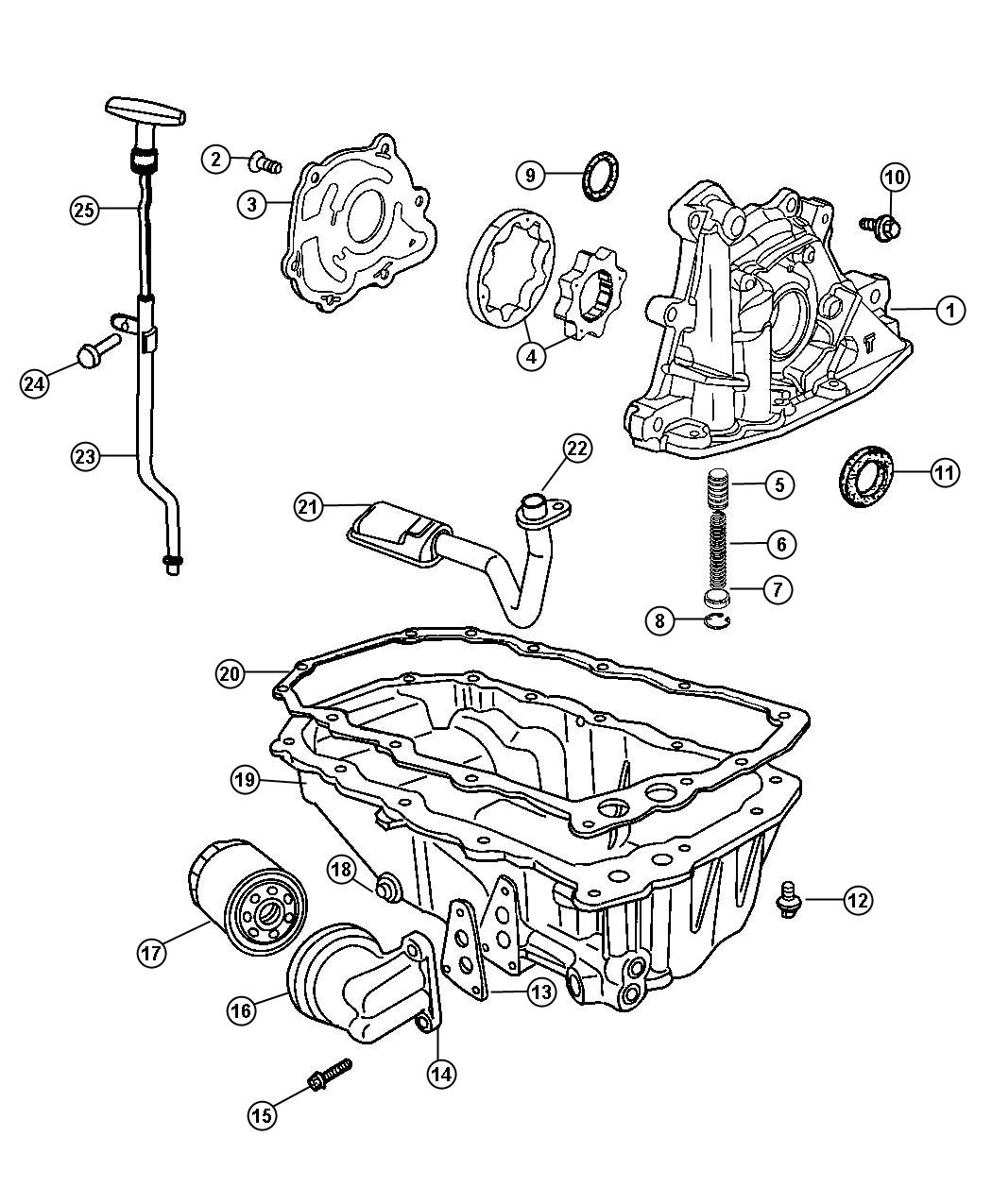 Chrysler 300 Pump Engine Oil Plunger Pconsists Edtedv