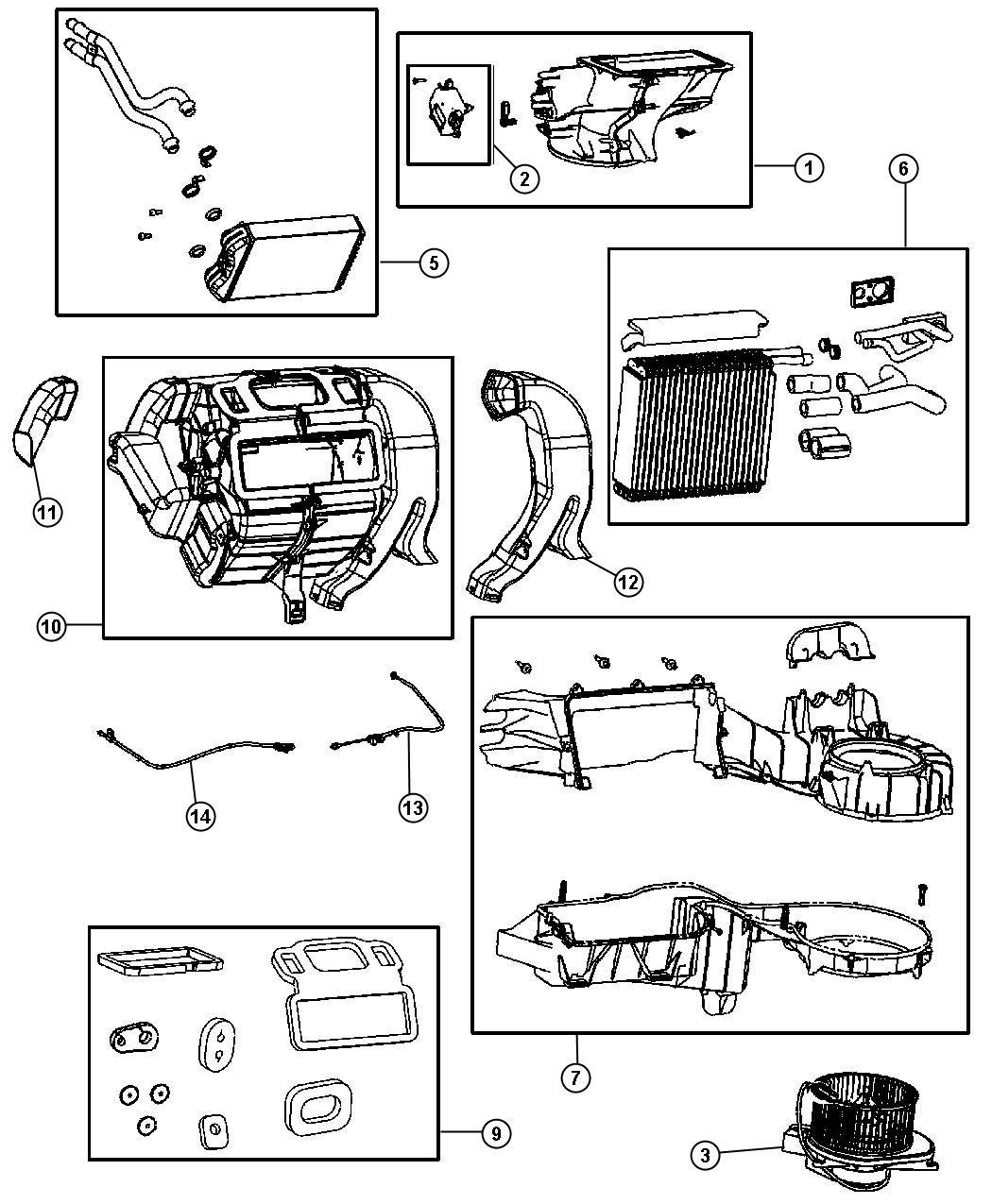 2009 Chrysler PT Cruiser Evaporator. Air conditioning