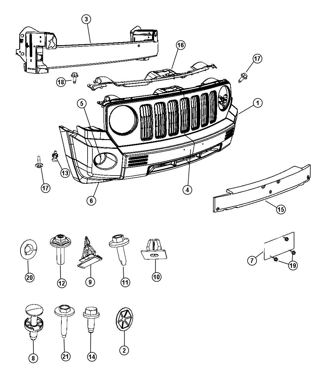2008 Jeep Patriot Panel. Closeout. Export. Color, body