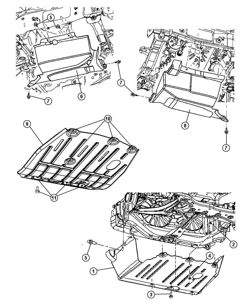 Jeep Compass Shield Accessory Drive Trans Engine