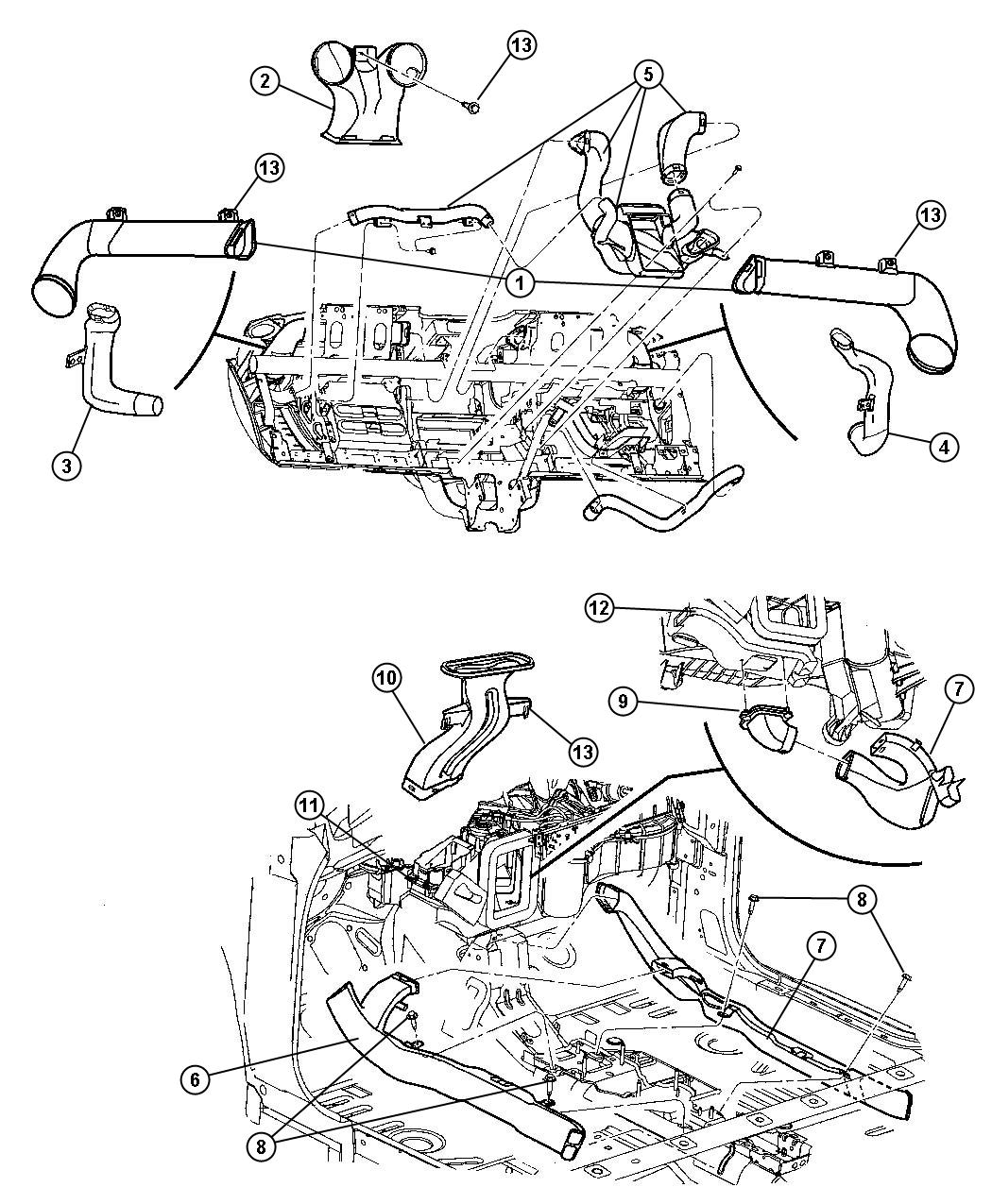 Chrysler Pt Cruiser Screw Hex Flange Head M4 2x1 70x15