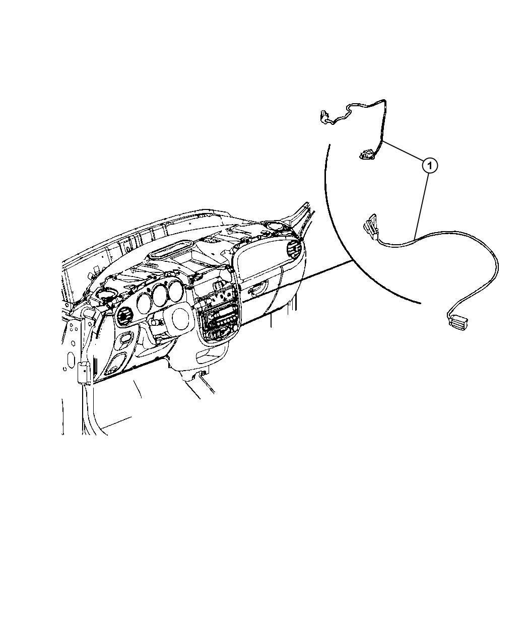 wiring harness connector 4way for 20032005 chrysler pt cruiser