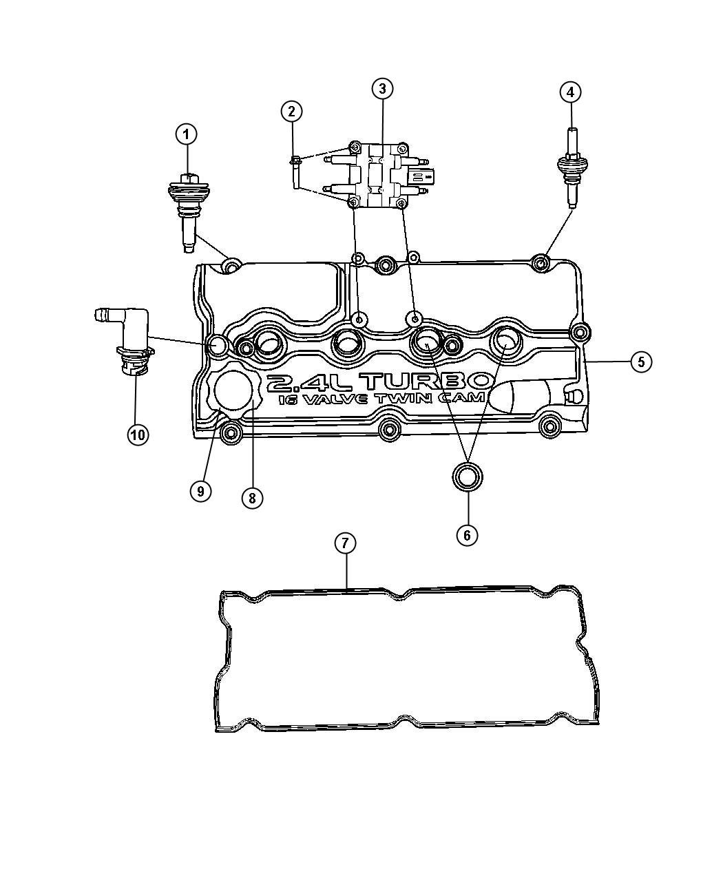 2001 Dodge Stratus Coil. Ignition. Emissions, european