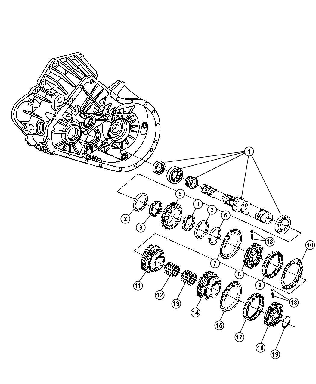 2008 Chrysler PT Cruiser Gear. Fourth. Shaft, input