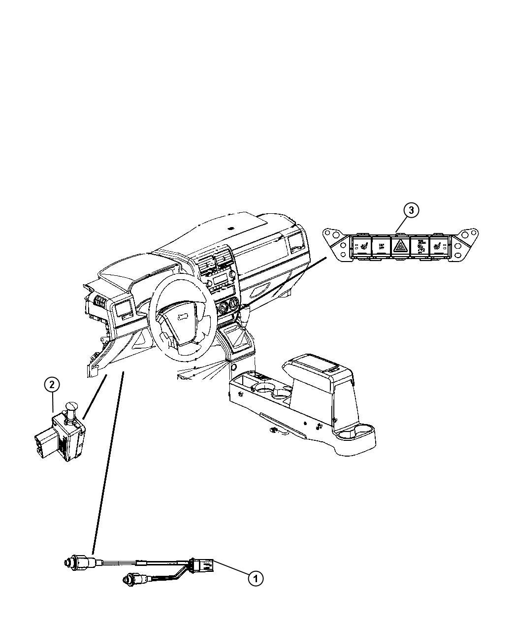 Jeep Compass Switch. Pod. Jkl, instrument, panel