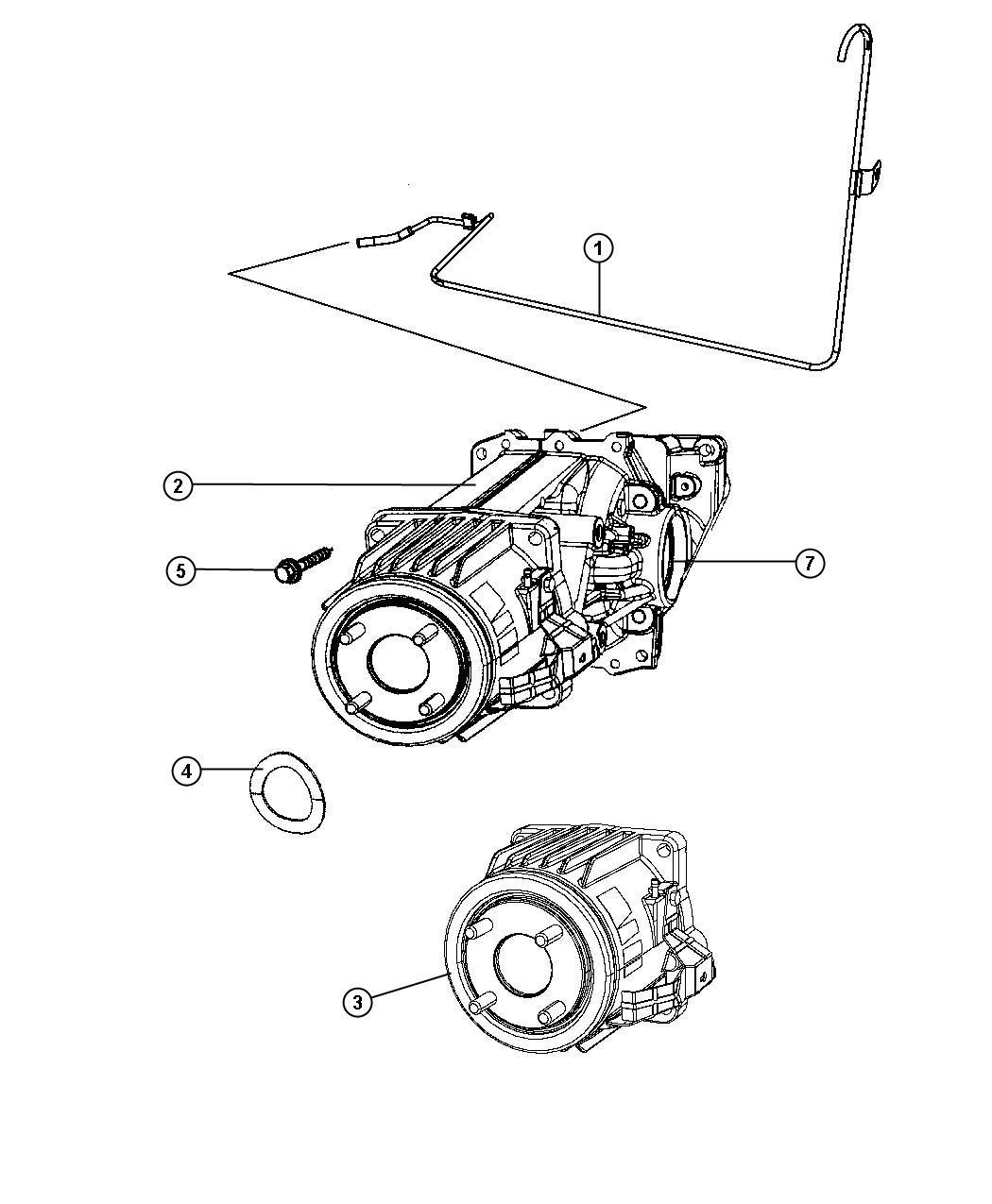 2008 Jeep Patriot Coupling. Electric clutch. [cont.var. W
