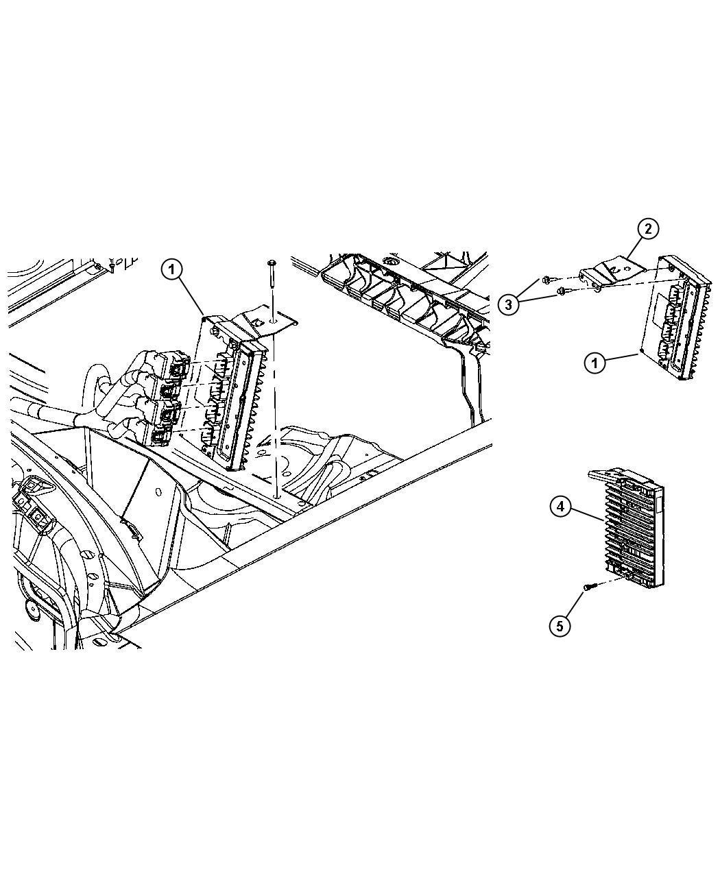 Dodge Magnum Module. Powertrain control. Generic