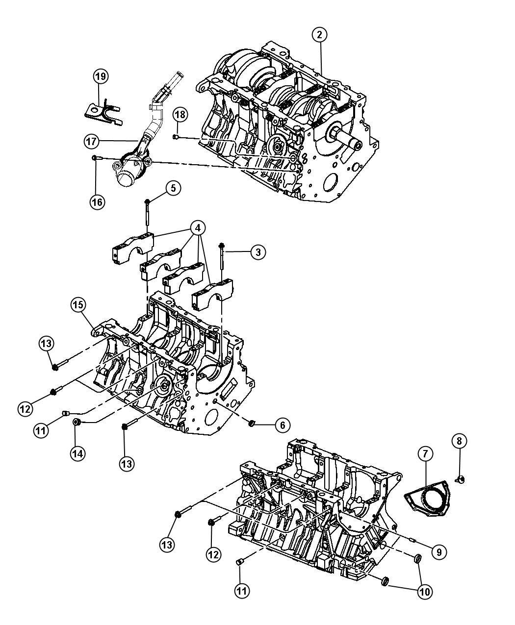 Dodge Charger Engine Long Block Export Oil Cooler